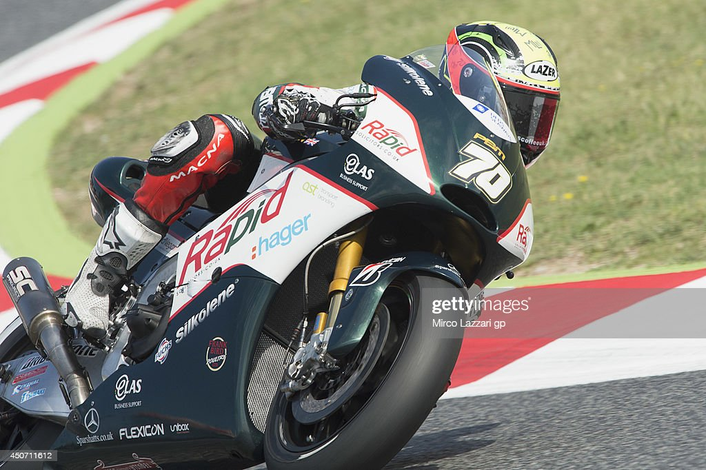 Michael Laverty of Great Britain and Paul Bird Motorsport rounds the bend during the MotoGp Tests In Montmelo at Circuit de Catalunya on June 16, 2014 in Montmelo, Spain.