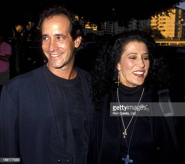 Michael Lawrence and singer Rita Coolidge attend the premiere of 'The Lemmon Sisters' on August 27 1990 at Mann Plaza Theater in Westwood California