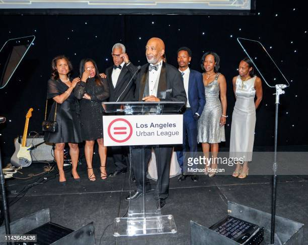 Michael Lawson ESQ speaks at Byron Allen Honored by Los Angeles Urban League on April 18 2019 in Hollywood California