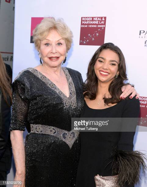 Michael Learned and guest attend the 4th annual Roger Neal Oscar Viewing Dinner Icon Awards and after party at Hollywood Palladium on February 24...