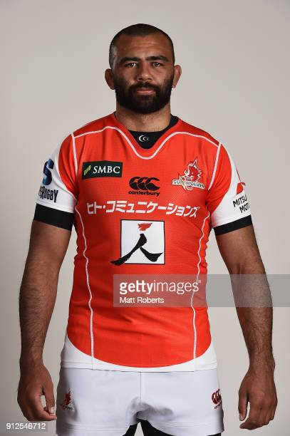 Michael Leitch poses during the Sunwolves portrait session on January 31 2018 in Beppu Oita Japan