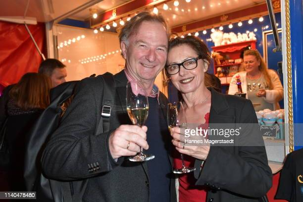 Michael Lerchenberg and his wife EvaMaria Lerchenberg attend the premiere of new tour program MANDANA Ciruskunst neu getraeumt at Circus Krone on...