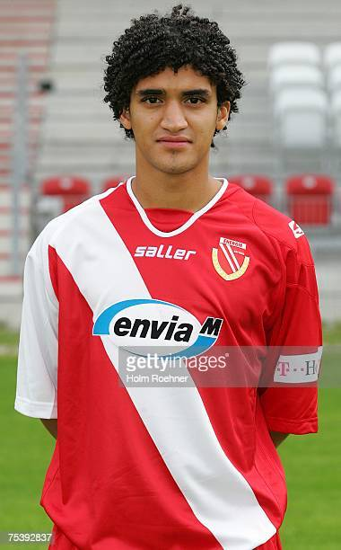 Michael Lerchl poses during the Bundesliga 2nd Team Presentation of FC Energie Cottbus on July 13 2007 in Jena Germany