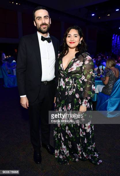 Michael Lerman and Lily Rodriguez attend the 29th Annual Palm Springs International Film Festival Awards Gala at Palm Springs Convention Center on...