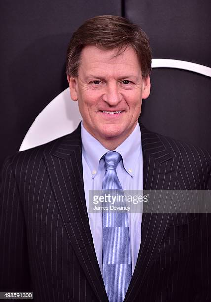 Michael Lewis attends 'The Big Short' New York Premiere at Ziegfeld Theater on November 23 2015 in New York City