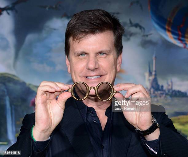 Michael Lewis Cofounder and CEO RealD arrives for the world premiere of Walt Disney Pictures' Oz The Great And Powerful at the El Capitan Theatre on...