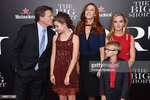 Michael Lewis Dixie Lewis Tabitha Soren Walker Jack Lewis and Quinn Tallulah Lewis attend the premiere of 'The Big Short' at Ziegfeld Theatre on...