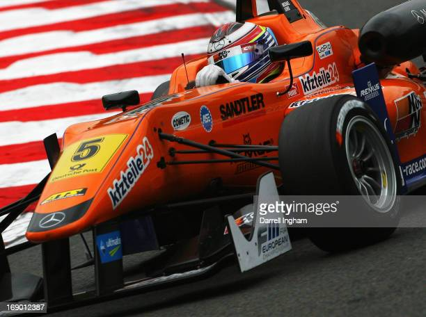 Michael Lewis of the United States drives the Mucke Motorsport Dallara F312 Mercedes during practice for the FIA European Formula 3 Championship race...