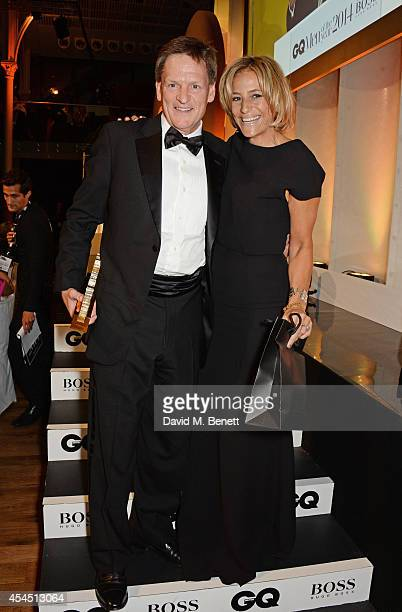 Michael Lewis winner of the Writer of the Year award and presenter Emily Maitlis attend the GQ Men Of The Year awards in association with Hugo Boss...