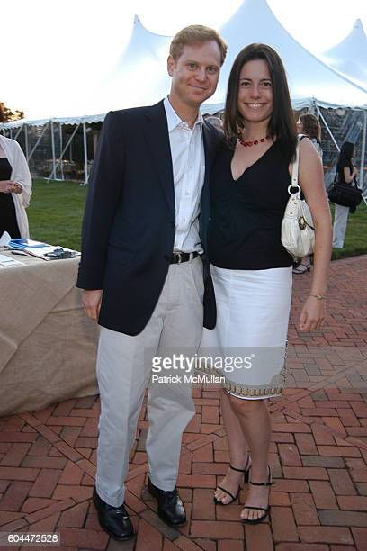 Michael Lewittis and Dahlia Loeb attend Jane Goodall Reason for Hope Gala Dinner at East Hampton on August 12 2006
