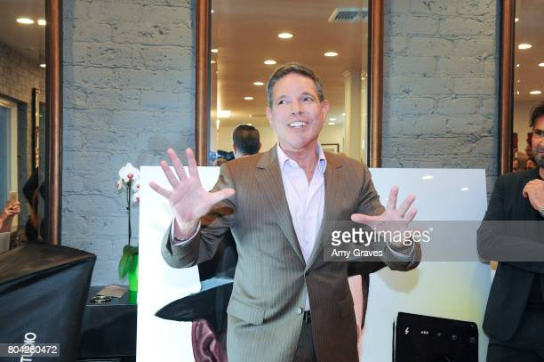 Michael Libow addresses the crowd at A Night Out a fundraising event benefiting #MoveToEndDV hosted by Beverly Hills plastic surgeon Dr Marc Mani at...