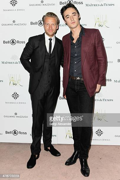 Michael Lillelund and Daniele Cavalli attend VAULT Art Basel Party 2013 at Vault on December 2 2013 in Miami Beach Florida