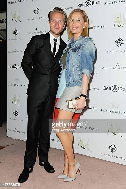 Michael Lillelund and Inga Rubenstein attend VAULT Art Basel Party 2013 at Vault on December 2 2013 in Miami Beach Florida
