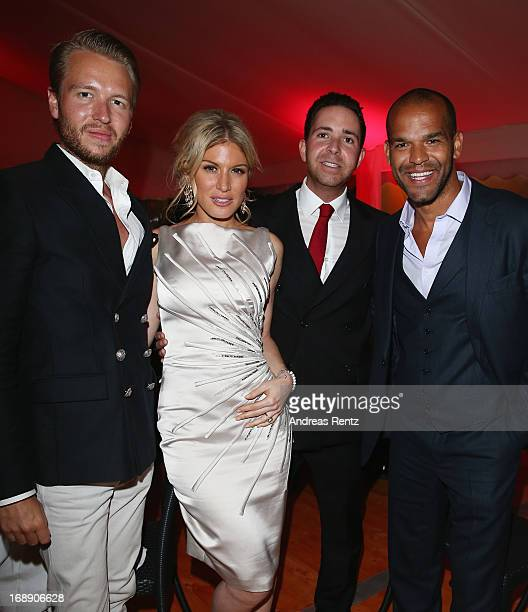 Michael Lillelund, Hofit Golan, Hamza Talhouni and Amaury Nolasco attend the 'Desert Dancer' Dinner during The 66th Annual Cannes Film Festival on...