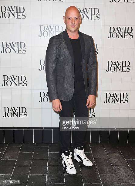 Michael Lo Sordo arrives at the David Jones Autumn/Winter 2015 Collection Launch at David Jones Elizabeth Street Store on February 4 2015 in Sydney...