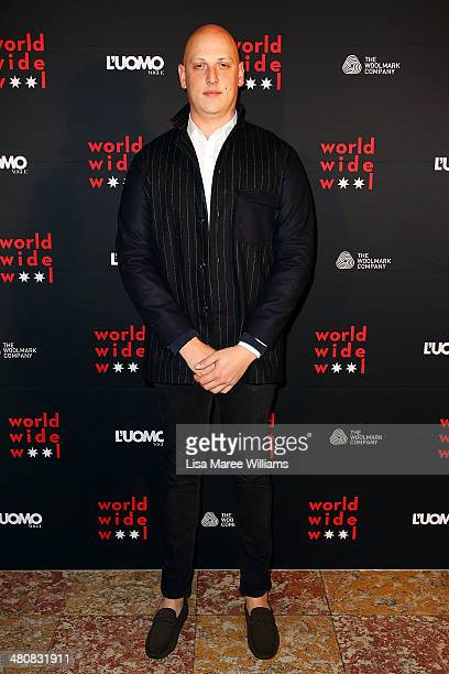 Michael Lo Sordo arrives at the L'Uomo Vogue and Woolmark Company Gala and Exhibition to celebrate L'Uomo Vogue magazine's March Issue dedicated to...