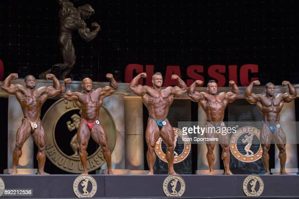 Michael Lockett Will Harris Dallas McCarver Luke Sandoe and Lionel Beyeke compete in the Arnold Classic as part of the Arnold Sports Festival on...