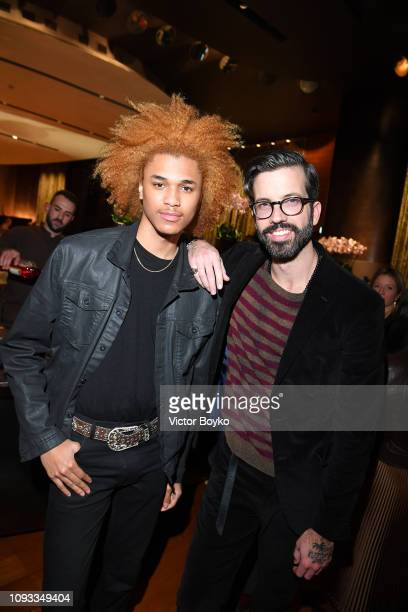 Michael Lockle and Will Welch attend the GQ Milan Cocktail Party during Milan Menswear Fashion Week Autumn/Winter 2019/20 on January 12 2019 in Milan...