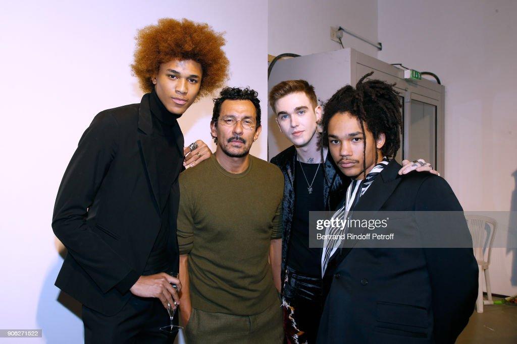 Haider Ackermann : Front Row - Paris Fashion Week - Menswear F/W 2018-2019