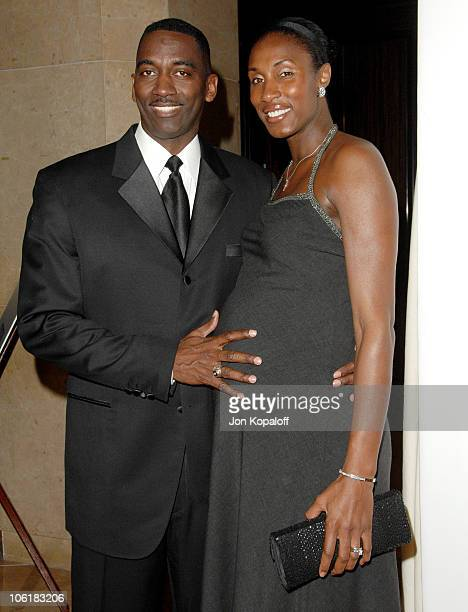 Michael Lockwood and Lisa Leslie during Women's Sports Foundation Presents The Billies Arrivals at Beverly Hilton Hotel in Beverly Hills California...