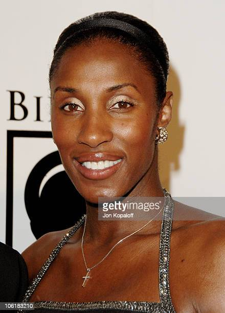Michael Lockwood and Lisa Leslie during Women's Sports Foundation Presents 'The Billies' Arrivals' at Beverly Hilton Hotel in Beverly Hills...