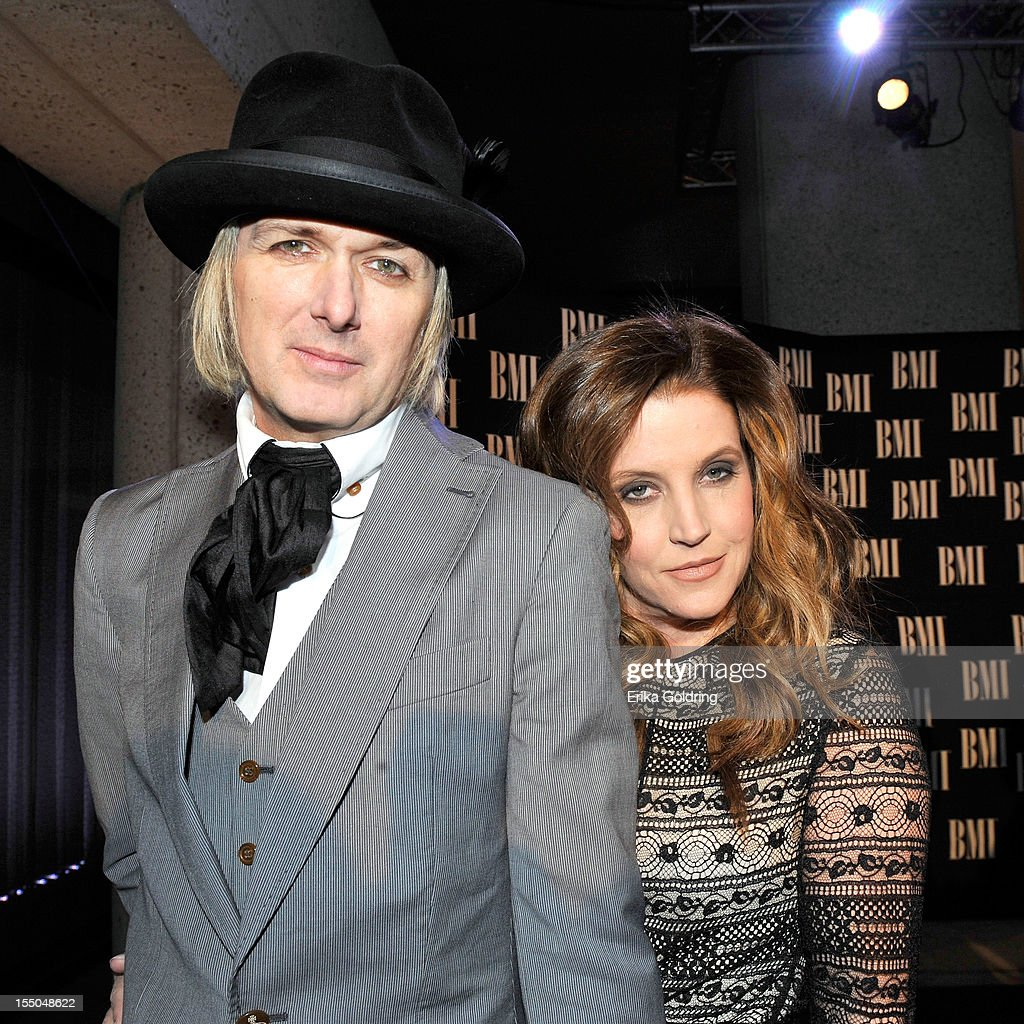 Michael Lockwood and Lise Marie Presley attend 60th annual BMI Country awards at BMI on October 30, 2012 in Nashville, Tennessee.