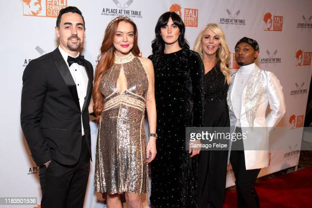 Michael Lohan Jr Lindsay Lohan Aliana Lohan Dina Lohan and guest attend the 2019 Ali Forney Center Gala at Cipriani Wall Street on October 25 2019 in...