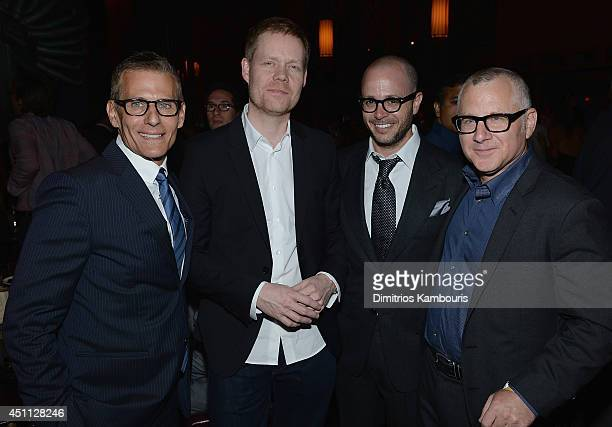 Michael Lombardo Max Richter Damon Lindelof and Tom Perrotta attend The Leftovers premiere after party at TAO on June 23 2014 in New York City