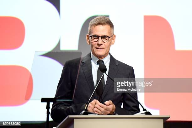 Michael Lombardo speaks onstage at Los Angeles LGBT Center's 48th Anniversary Gala Vanguard Awards at The Beverly Hilton Hotel on September 23 2017...