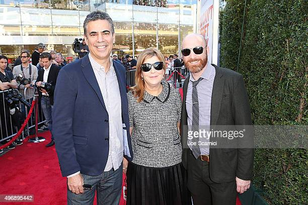 Michael London Terry Press and Scott Shooman attend the Love The Coopers Holiday Luncheon Benefiting The LA Regional Food Bank at The Grove on...