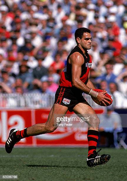 Michael Long of the Bombers in action during the AFL Preliminary Final match between the Essendon Bombers and the Adelaide Crows held at the...