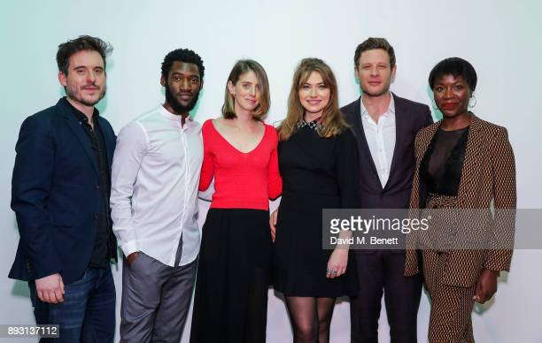 Michael Longhurst Malachi Kirby Amy Herzog Imogen Poots James Norton and Faith Alabi attend the press night after party for the Donmar's production...