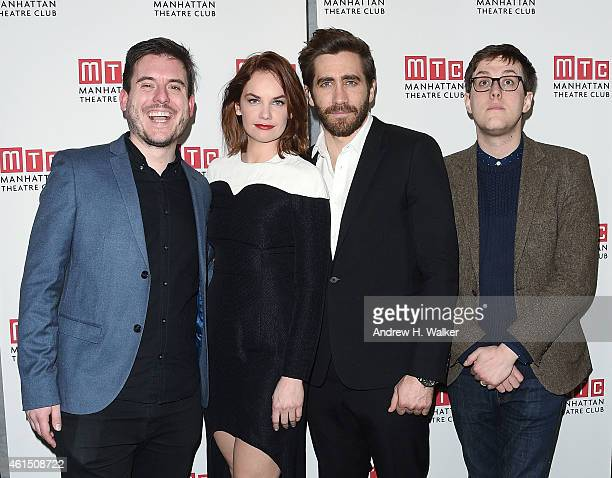 Michael Longhurst Ruth Wilson Jake Gyllenhaal and Nick Payne attend the Constellations Broadway opening night after party at Urbo NYC on January 13...