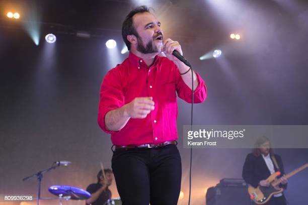 Michael Lowry Samuel T Herring and William Cashion of Future Islands perform at Iveagh Gardens on July 6 2017 in Dublin Ireland