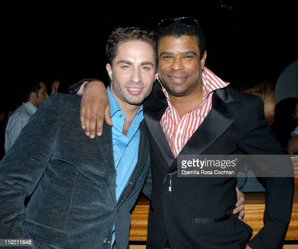 Michael Lucas and George Wayne during Crobar Presents George Wayne's Downtown 100 List Celebration at Crobar in New York City New York United States
