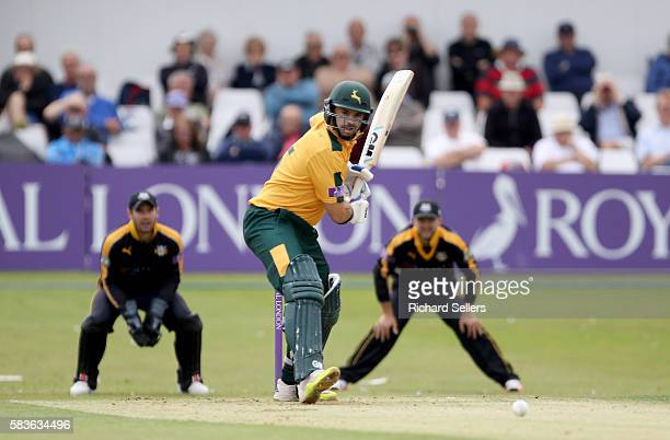 Michael Lumb in action for Nottinghamshire during the Royal London OneDay Cup between Yorkshire Vikings and Nottingham Outlaws at North Marine Road...
