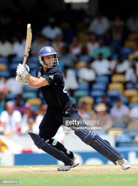 Michael Lumb of England bats during The ICC World Twenty20 Super Eight match between Pakistan and England played at The Kensington Oval on May 6 2010...