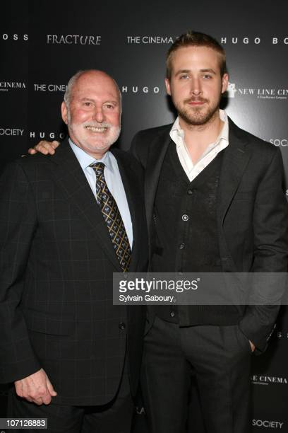 """Michael Lynne and Ryan Gosling during """"Fracture"""" Special Screening Hosted by The Cinema Society and Hugo Boss - Inside Arrivals at Tribeca Grand..."""