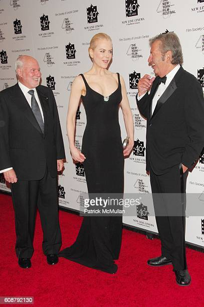 Michael Lynne Nicole Kidman and Robert Shaye attend NEW LINE CINEMA celebrates its 40TH Anniversary at Frederick P Rose Hall NYC on October 5 2007