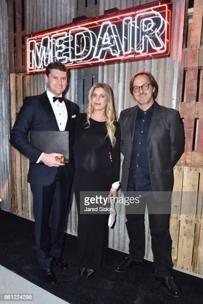 Michael Macaulay Valerie Macaulay and Luca Babini attend the First Annual Medair Gala at Stephan Weiss Studio on March 30 2017 in New York City