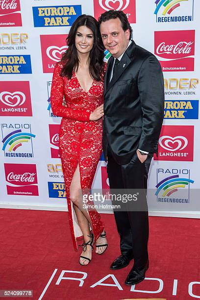 Michael Mack and Miriam Mack attend the Radio Regenbogen Award 2016 at Europapark on April 22 2016 in Rust Germany