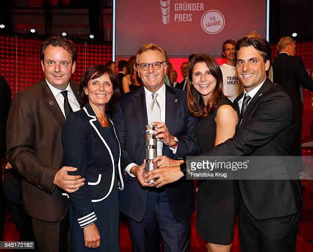Michael Mack Marianne Mack Roland Mack AnnKathrin Mack and Thomas Mack attend the Deutscher Gruenderpreis on July 5 2016 in Berlin Germany