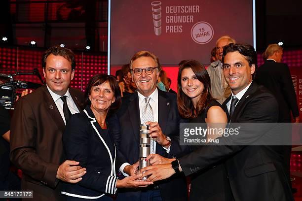 Michael Mack Marianne Mack Roland Mack AnnKathrin Mack and Thomas Mack attend the Deutscher Gruenderpreis on July 5 2016 in Berlin Germany