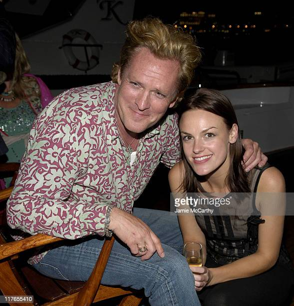 Michael Madsen and Cassandra Magrath during 2005 Cannes Film Festival AnheuserBusch Host 'Wolf Creek' Party at AnheuserBusch Big Eagle Yacht in...