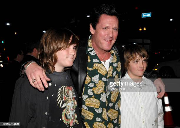 Michael Madsen and his kids during 'The Astronaut Farmer' Los Angeles Premiere Red Carpet at Cinerama Dome in Hollywood California United States