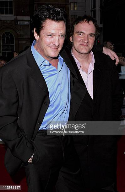 Michael Madsen and Quentin Tarantino during Sony Ericsson Empire Film Awards - Arrivals at Guildhall Arts Centre in London, Great Britain.