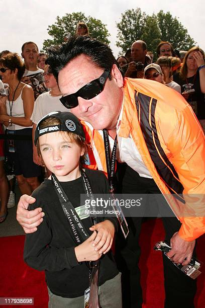 Michael Madsen and son during Indianapolis 500 90th Running Race Day at Indianapolis Motor Speedway in Indianapolis Indiana United States