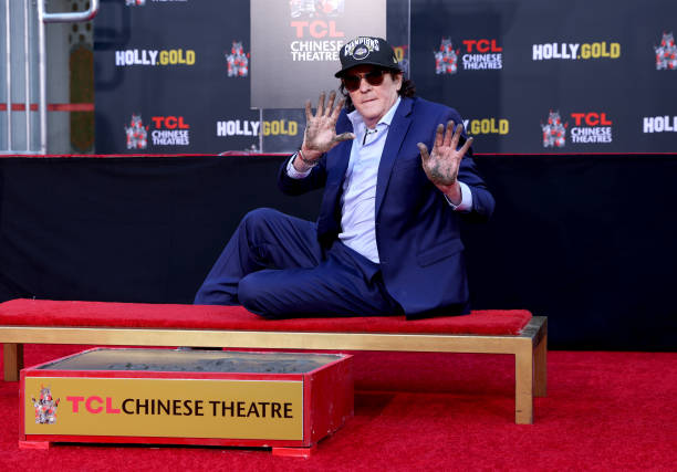 CA: Actor Michael Madsen Hand/Footprint Ceremony In Cement At TCL Chinese Theatre