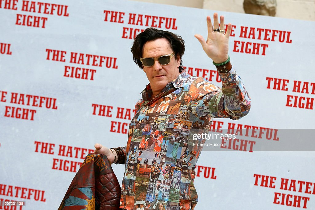 Michael Madsen attends the 'The Hateful Eight' photocall at Hassler Hotel on January 28, 2016 in Rome, Italy.
