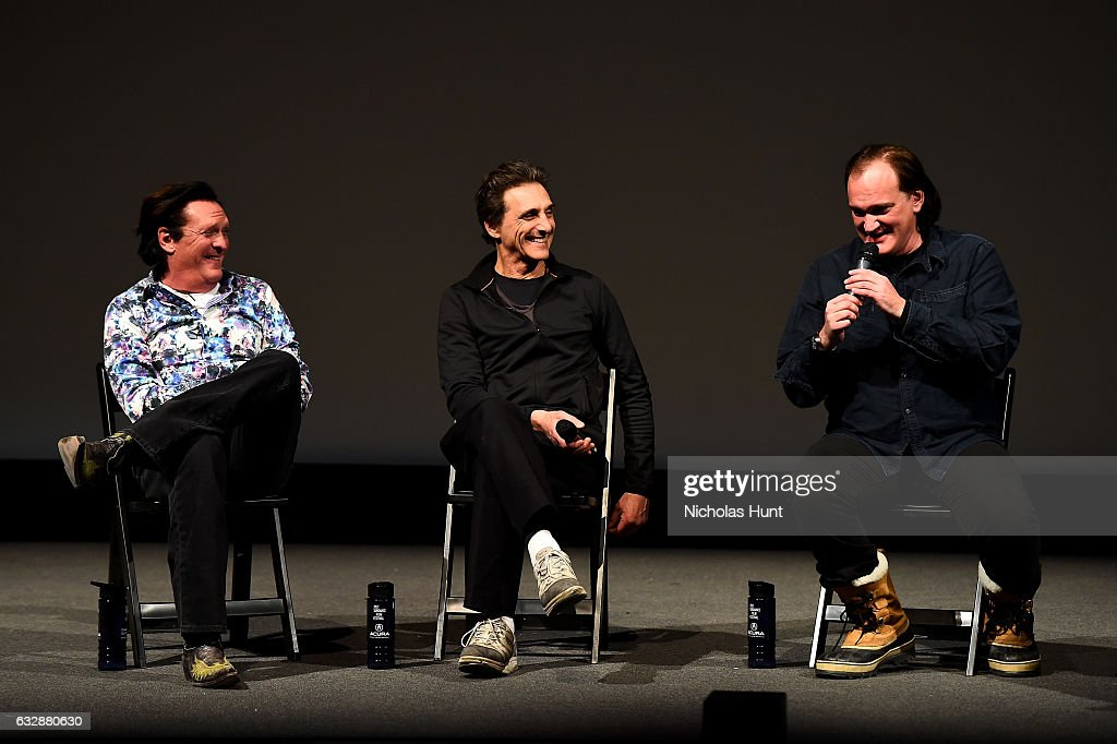 Michael Madsen, Lawrence Bender, and Quentin Tarantino speak at the 'Reservoir Dogs' 25th Anniversary Screening during the 2017 Sundance Film Festival at Eccles Center Theatre on January 27, 2017 in Park City, Utah.